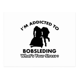 addicted to bobsleding postcard
