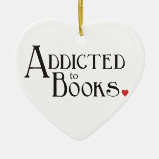Addicted to Books Ceramic Ornament