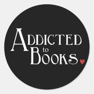 Addicted to Books Classic Round Sticker