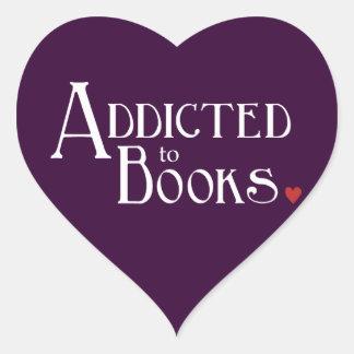 Addicted to Books Heart Sticker