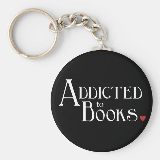 Addicted to Books Keychains