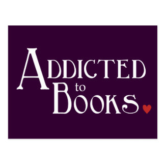 Addicted to Books Postcard