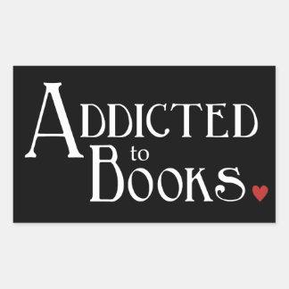Addicted to Books Rectangular Sticker