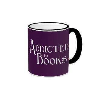 Addicted to Books Ringer Coffee Mug