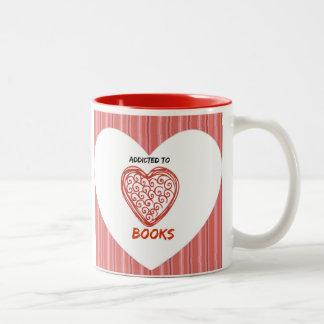 Addicted to Books Two-Tone Coffee Mug