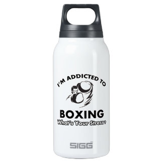 addicted to boxing 10 oz insulated SIGG thermos water bottle