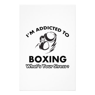 addicted to boxing stationery design
