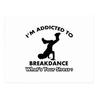 addicted to breakdance postcard