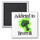 Addicted to Broccoli 2 Inch Square Magnet