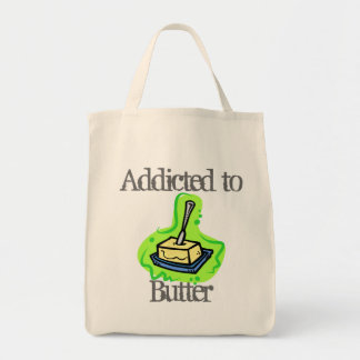 Addicted to Butter Grocery Tote Bag