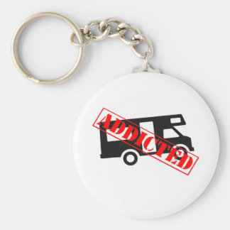 Addicted to Camping Basic Round Button Keychain