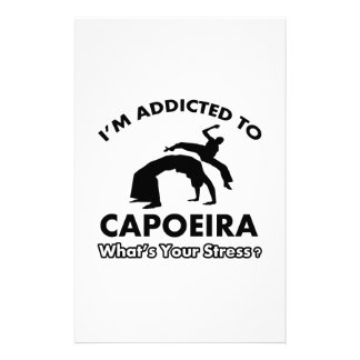 addicted to capoeira personalized stationery