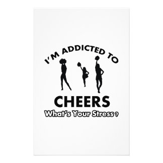 addicted to cheer stationery design