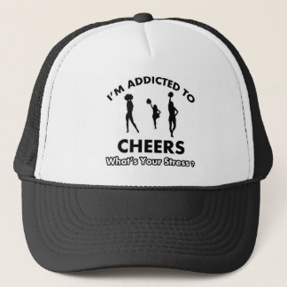 addicted to cheer trucker hat