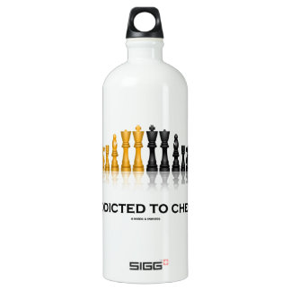 Addicted To Chess (Humor Reflective Chess Set) SIGG Traveler 1.0L Water Bottle