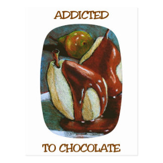ADDICTED TO CHOCOLATE POSTCARD