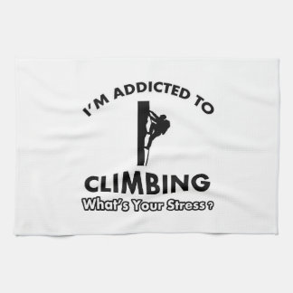 addicted to climbing hand towels