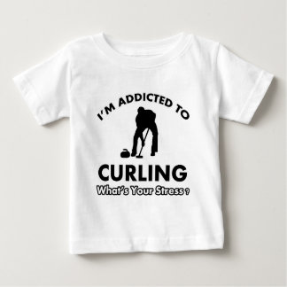 addicted to curling baby T-Shirt