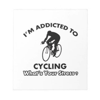 addicted to cycling memo note pads