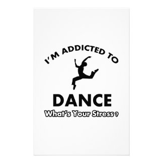 addicted to dance stationery design