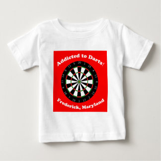 Addicted to Darts Baby T-Shirt
