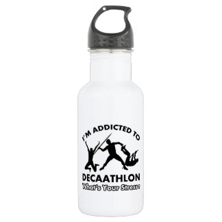 addicted to decathlon 18oz water bottle