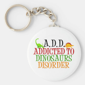 Addicted to Dinosaurs Disorder Basic Round Button Keychain