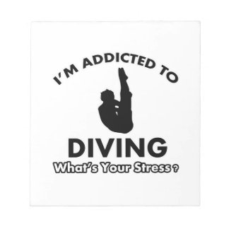 addicted to diving notepad
