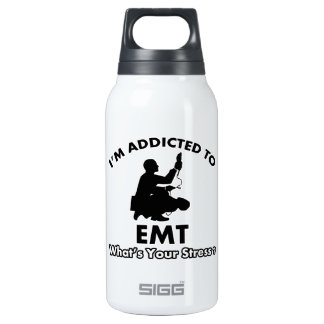 addicted to EMT 10 Oz Insulated SIGG Thermos Water Bottle
