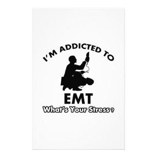 addicted to EMT Custom Stationery
