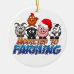 Addicted to Farming Christmas Christmas Ornaments