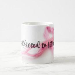 addicted to fibre coffee mug