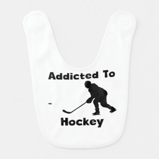Addicted To Hockey Bib