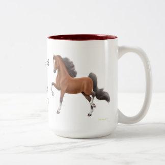 Addicted to Horse Shows Gaited Saddlebred Mug