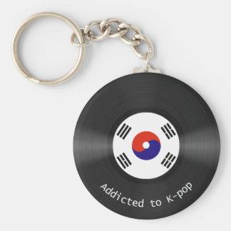 Addicted to Kpop Basic Round Button Keychain