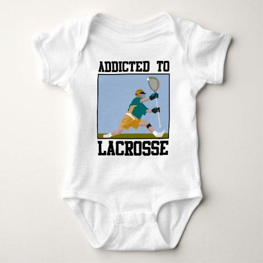 Addicted To Lacrosse Baby Bodysuit