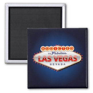 Addicted to Las Vegas, Nevada Funny Sign 2 Inch Square Magnet