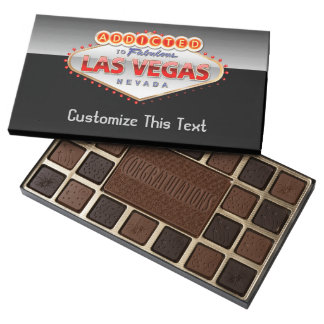 Addicted to Las Vegas, Nevada Funny Sign 45 Piece Box Of Chocolates