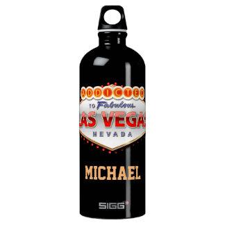 Addicted to Las Vegas, Nevada Funny Sign Aluminum Water Bottle