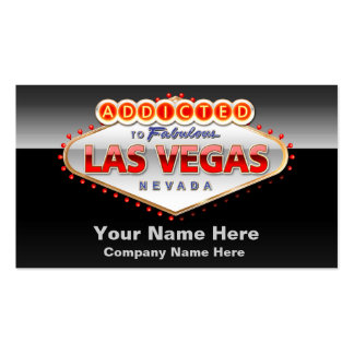 Addicted to Las Vegas, Nevada Funny Sign Double-Sided Standard Business Cards (Pack Of 100)