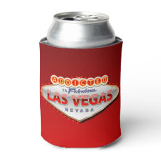 Addicted to Las Vegas, Nevada Funny Sign Can Cooler