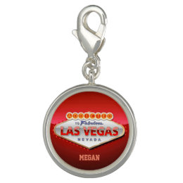 Addicted to Las Vegas, Nevada Funny Sign Charm