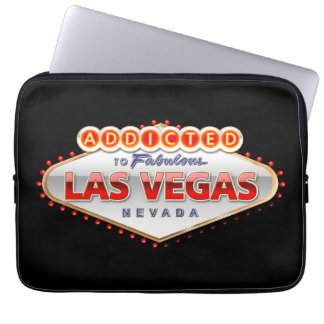 Addicted to Las Vegas, Nevada Funny Sign Computer Sleeve