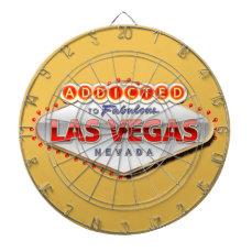 Addicted to Las Vegas, Nevada Funny Sign Dart Board