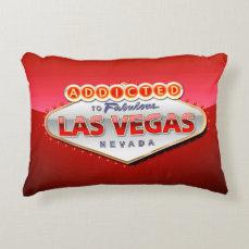 Addicted to Las Vegas, Nevada Funny Sign Decorative Pillow
