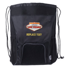 Addicted to Las Vegas, Nevada Funny Sign Drawstring Backpack