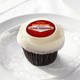 Addicted to Las Vegas, Nevada Funny Sign Edible Frosting Rounds