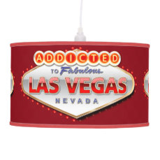 Addicted to Las Vegas, Nevada Funny Sign Hanging Lamp