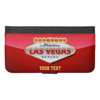 Addicted to Las Vegas, Nevada Funny Sign iPhone 6/6s Plus Wallet Case