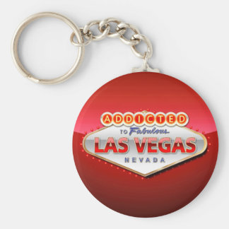 Addicted to Las Vegas, Nevada Funny Sign Keychain